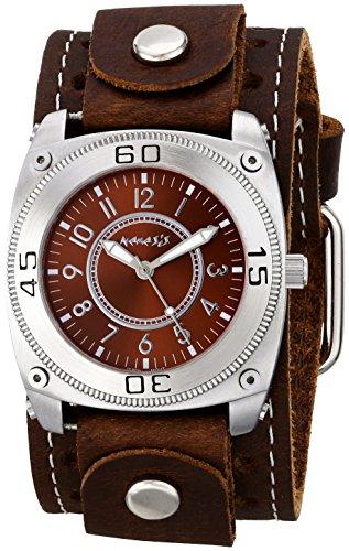 Los hombres de la némesis 012bsth - B para mezclar y combinar de Visualización analógico de cuarzo japonés de la serie de color marrón y reloj de pulsera