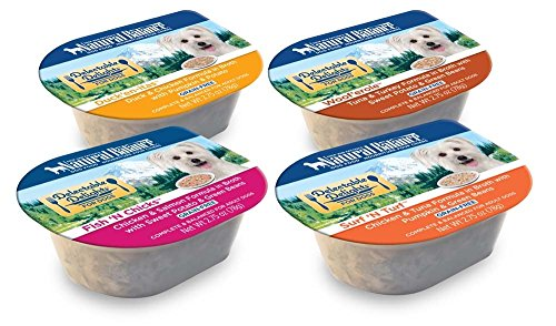 Natural Balance Delectable Delights 2.75-oz tubs Grain-Free Wet Dog Food, Case of 16 with 4 Flavors - Fish 'N Chicks, Duck'en-itas, Surf 'N Turf, and Woof'erole_Image1