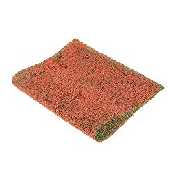 Magideal 2pc Pink Grass Mat Lawn Model Railway Scenery Landscape Miniature Decoration