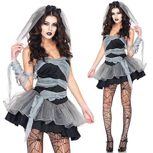 Fantasma sposa principessa vestito cosplay zombie Halloween costume della strega , black , m