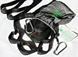 Hammock Tree Straps by AVALEISURE to End ALL Your Hammock Set Up Problems - A Pair of Long, Lightweight Suspension Straps with 2 Steel Safety Carabiners - Adjustable with 2x12 Connection Loops - No-Stretch PP/Polyester Webbing - Best for Camping, Backpacking, Backyard/Garden - Quick Setup then Enjoy Your Rest!