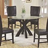 Coaster Home Furnishings 101071 Casual Dining Table Base, Cappuccino (glass top sold separately)