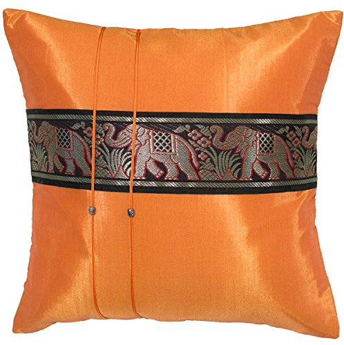 Avarada striped elephant throw pillow cover decorative for Sofa cushion covers 24x24