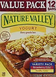 Nature Valley Yogurt Chewy Granola Bars Strawberry & Vanilla Variety Pack 14....