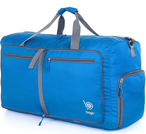Bago Borsone Per Viaggio Bagaglio Palestra Sport Campeggio - Leggero e Pieghevole in se stessa. Borsone (Taglia Media 22'', Blu)