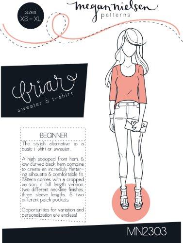 Megan Nielsen Briar Sweater & T-Shirt Sewing Pattern XS-XL