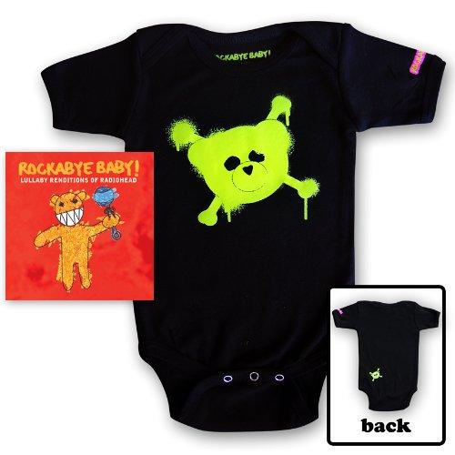 Rockabye Baby! Lullaby Renditions of Radiohead + Rockabye Baby 100% Organic Cotton Onesie (Green)