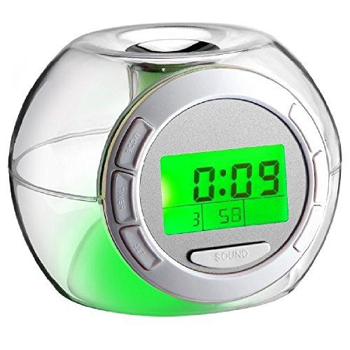 目覚まし時計 レインボーアラームクロック LED電子時計 癒しのサウンド6パターン&七色発光 [並行輸入品]