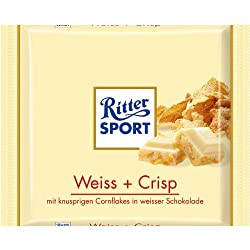 Ritter Sport Weiss + Crisp / white & crisp (3 Bars each 100g) – fresh from Germany
