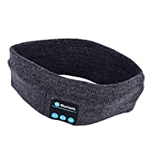 buy Cfzc Newest Outdoor Knit Washable Sport Headband Sweatband With Wireless Headphones Headsets Speakers Mic Hands-Free Phone Call Answer Ears-Free Headwear(Dark Grey)