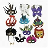 Deluxe Feather Mask Assortment (1 dozen) - Bulk [Toy]