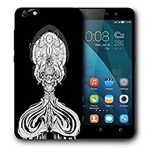 Snoogg Profet Printed Protective Phone Back Case Cover For Huawei Honor 4X
