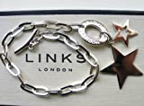 NEW LINKS OF LONDON Sterling Silver Star Chain Charm Bracelet 5010.0308