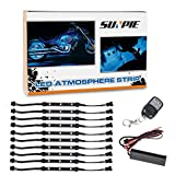 10pcs Motorcycle LED Light Kit RGB Multi-Color Flexible Strips Ground Effect Light Kit with Wireless Remote Control