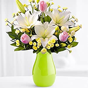 Easter Morning With Free Glass Vase