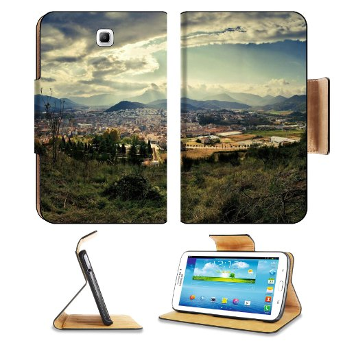 City Sky Nature Top View Grass Clouds Samsung Galaxy Tab 3 7.0 Flip Case Stand Magnetic Cover Open Ports Customized Made To Order Support Ready Premium Deluxe Pu Leather 7 12/16 Inch (190Mm) X 5 5/8 Inch (117Mm) X 11/16 Inch (17Mm) Liil Galaxy Tab3 Cases front-764977