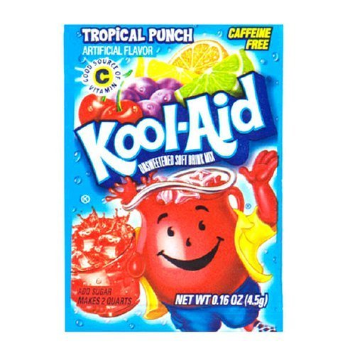 Kool-Aid Tropical Punch Drink Mix (Pack of 96 Envelopes)