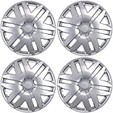 """BDK Toyota Sienna Hubcaps Wheel Cover, 16"""" Silver Replica Cover, OEM Replacement (4 Pieces)"""