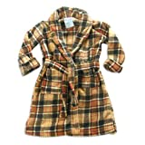 Carters Watch The Wear - Toddler Boys Plaid Robe, Tan