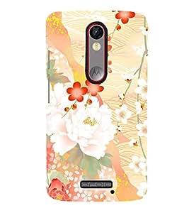 Floral Abstract Design Cute Fashion 3D Hard Polycarbonate Designer Back Case Cover for Motorola Moto X Force :: Motorola Moto X Force Dual SIM