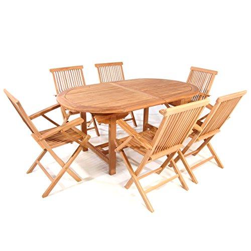 DIVERO-Gartenmbelset-Sitzgruppe-Klappsessel-Teakholz-Tisch-170230