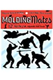Molding Mates Action Ninjas 12 Molding Mates Home Decor Peel and Stick Vinyl Wall Decal Stickers