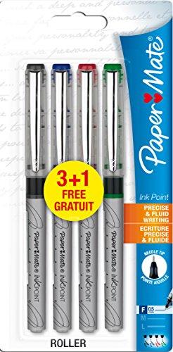 paper-mate-s0480432-ink-point-tintenroller-spitze-gemischte-standardfarben-3-plus-1-packung-05-mm