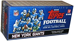 Topps New York Giants 2008 Topps Factory Card Set by Topps
