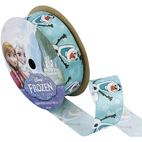 offray frozen craft ribbon 78 inch by 9 feet olaf close up jkfndkngk. Black Bedroom Furniture Sets. Home Design Ideas