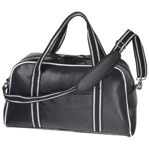 Reisetasche mit schwarzem Lochmuster