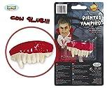 Dientes o Dentadura de Vampiro o Drácula con pegamento