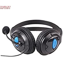 Xfuny(Tm) Wired Gaming Chat Stereo Bass Dual Ear Cup Headset Headphone With Microphone Boom Mic For Sony Play...