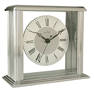 Acctim 36247 Hamilton Mantel Clock, Silver Effect