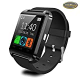 2015 Upgraded Version Smartwatch Bluetooth Smart Watch Wristwatch U8 Plus Uwatch Full Fit for Smartphones IOS Android Apple Iphone 4/4s/5/5c/5s Android Samsung S2/s3/s4/note 2/note 3 HTC Sony Blackberry (U8 Plus--Black)