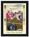 Dunlop Tyres, Vintage Art Deco Advert - Framed Print 32x42cm Black