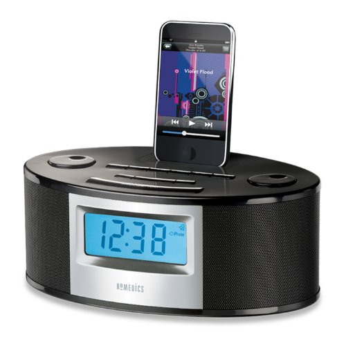 homedics sleep solutions digital projection fm clock radio with nature sounds nature sound. Black Bedroom Furniture Sets. Home Design Ideas