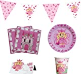 Fairy Princess Party Pack (Plates, Cups, Napkins, Place Cards & Bunting)