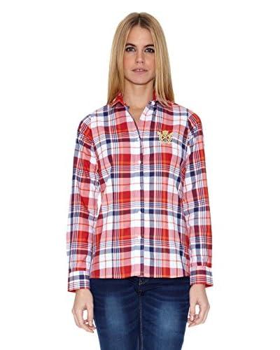 Polo Club Camisa Mujer Checks Rojo / Azul Marino