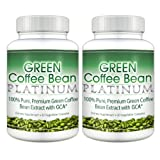 Green Coffee Bean Platinum (2 Bottles) - Premium 100% Pure Green Coffee Bean Extract with GCA (50% chlorogenic acid) Professional Strength Weight Loss Supplement. 800mgby Green Coffee Bean...
