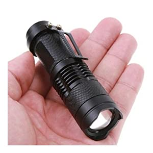 SODIAL(TM) 7w 300lm Mini Cree Led Flashlight Torch Adjustable Focus Zoom Light Lamp