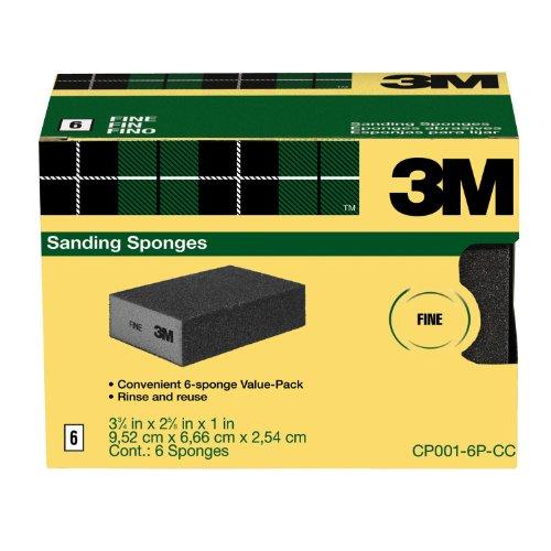 3M Sanding Sponge, Fine Grit, 6-Pack (Detail Sanding Block compare prices)