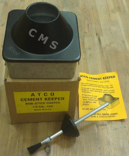 atco-cast-zinc-teflon-cement-keeper-dispenser-1-5-gallon-leather-craft-glue-pot-by-siline-johnson-ma
