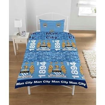 pas cher ensemble de literie au style manchester city club comprenant housse de couette et. Black Bedroom Furniture Sets. Home Design Ideas