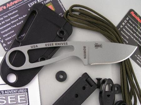 ESEE Knives ISPCK Izula Fixed Blade Knife with Skeletonized Handles with Kit by ESEE