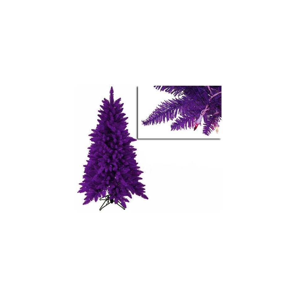 4.5 Pre Lit Slim Purple Ashley Spruce Christmas Tree