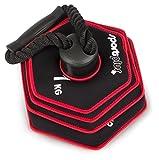 SportPlus Kettlebell, verstellbar von 1,5 bis 10 kg, Softhantel verringert die Verletzungsgefahr