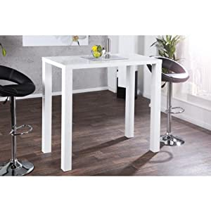 Neofurn lima design dining table 120cm white glossy for Table 6 kitchen and bar