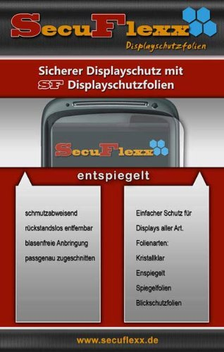SecuFlexx ANTIREFLEX (entspiegelt - anti fingerprint) Schutzfolie Displayschutz Panasonic HDC-HS100