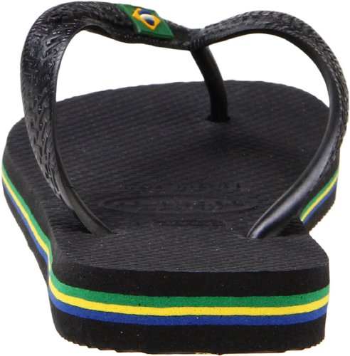 Havaianas Women's Brazil Sandal Flip Flop, black, 37 BR/7/8 W US