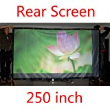 72-300 Projector Screen 16 9 4 3 Projector HD Screen Portable Rear Projection Screen PVC Material 150 Inch 16... - B01J1G1TTE